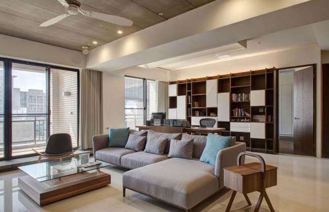 thiet ke noi that can ho hien dai sang trong 08 Thiết kế kiến trúc và nội thất căn hộ đơn giản nhưng vẫn sang trọng