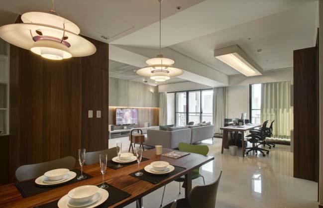 thiet ke noi that can ho hien dai sang trong 14 Thiết kế kiến trúc và nội thất căn hộ đơn giản nhưng vẫn sang trọng