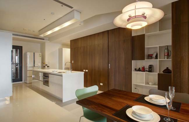 thiet ke noi that can ho hien dai sang trong 16 Thiết kế kiến trúc và nội thất căn hộ đơn giản nhưng vẫn sang trọng