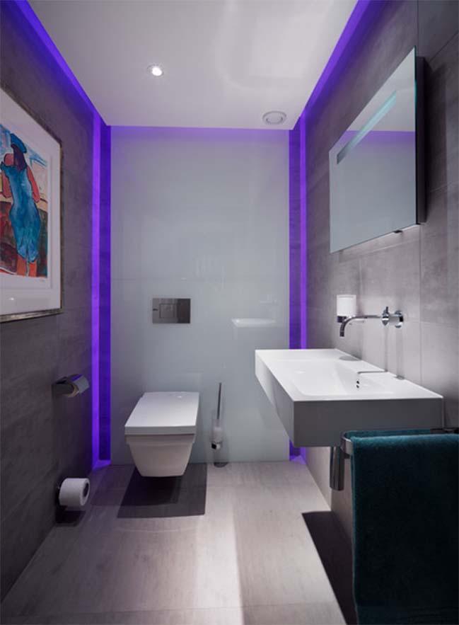 Tô điểm cho phòng tắm đẹp với hệ thống đèn LED