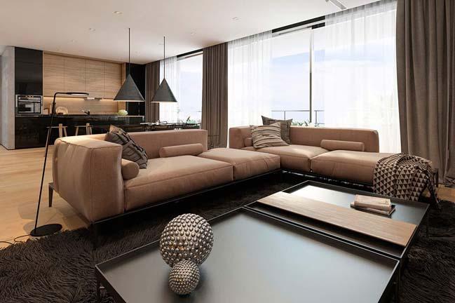noi that can ho chung cu voi tong mau am ap 02 Thiết kế nội thất căn hộ chung cư với tông màu ấm áp