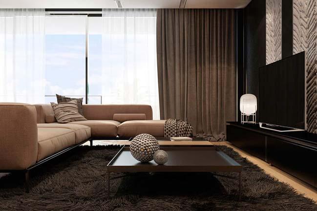noi that can ho chung cu voi tong mau am ap 03 Thiết kế nội thất căn hộ chung cư với tông màu ấm áp