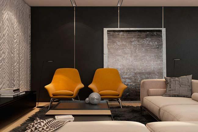 noi that can ho chung cu voi tong mau am ap 04 Thiết kế nội thất căn hộ chung cư với tông màu ấm áp