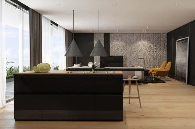 noi that can ho chung cu voi tong mau am ap 07 Thiết kế nội thất căn hộ chung cư với tông màu ấm áp