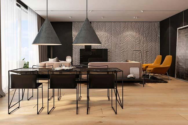 noi that can ho chung cu voi tong mau am ap 10 Thiết kế nội thất căn hộ chung cư với tông màu ấm áp