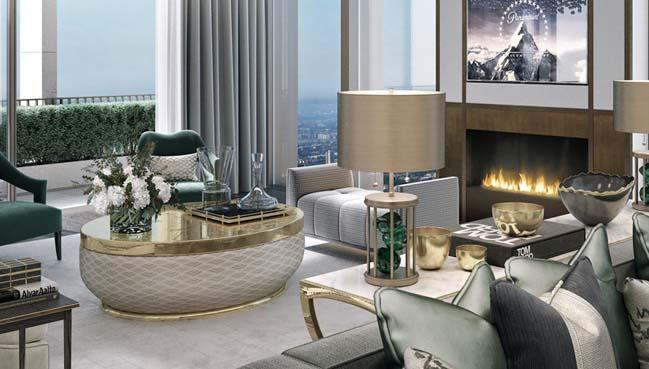 Cải tạo căn hộ penthouse 2 tầng sang trọng