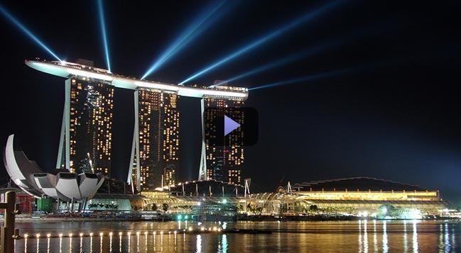Video: Siêu kiến trúc của Marina Bay Sands Singapore