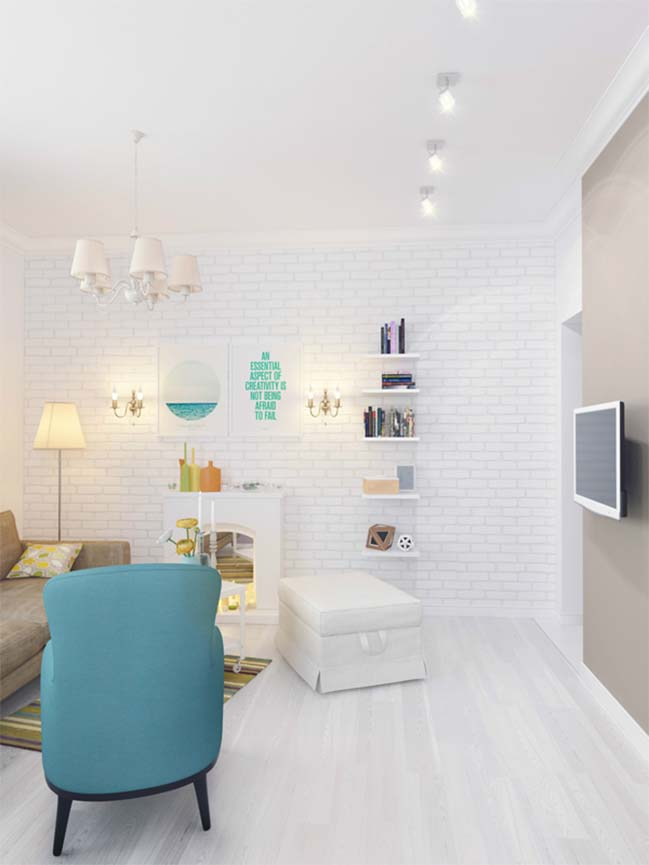 Thiết kế nội thất nữ tính cho ngôi nhà nhỏ đẹp