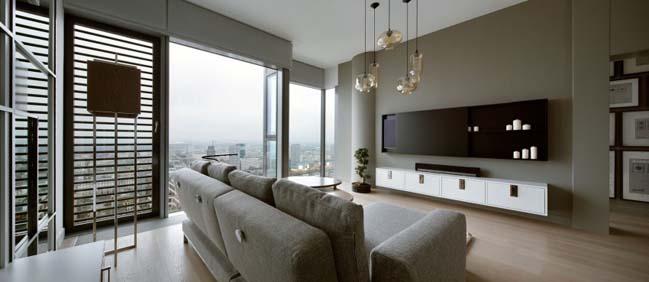 thiet ke noi that can ho chung cu 01 Cùng nhìn qua căn hộ chung cư với thiết kế hiện đại tối giản