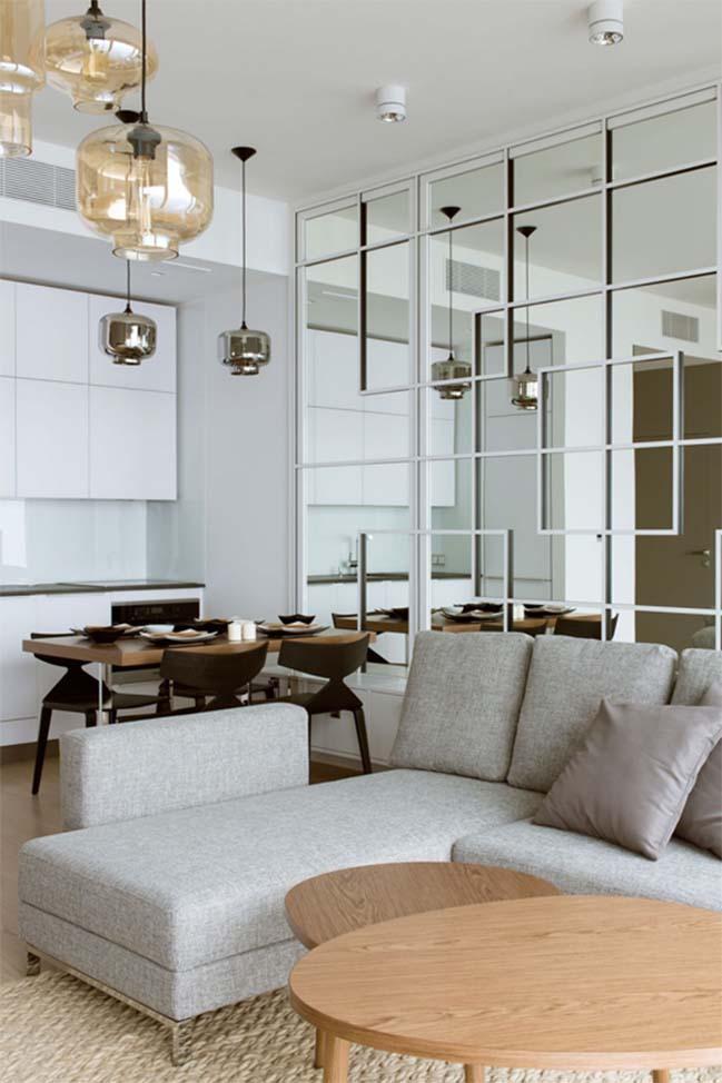 thiet ke noi that can ho chung cu 03 Cùng nhìn qua căn hộ chung cư với thiết kế hiện đại tối giản