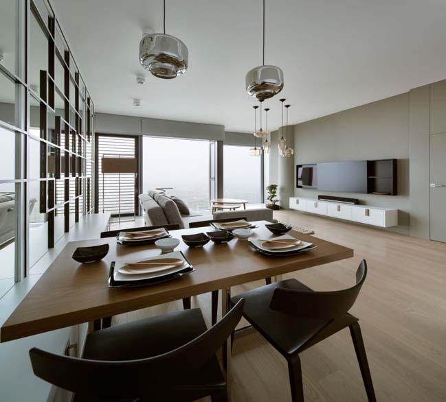 thiet ke noi that can ho chung cu 07 Cùng nhìn qua căn hộ chung cư với thiết kế hiện đại tối giản