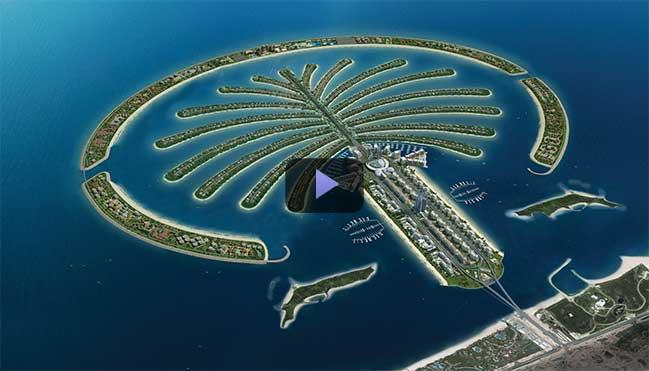 Video kiến trúc: Hòn đảo nhân tạo Palm Jumeirah