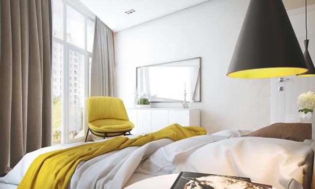 Tổ điểm căn hộ chung cư với những màu sắc nổi bật