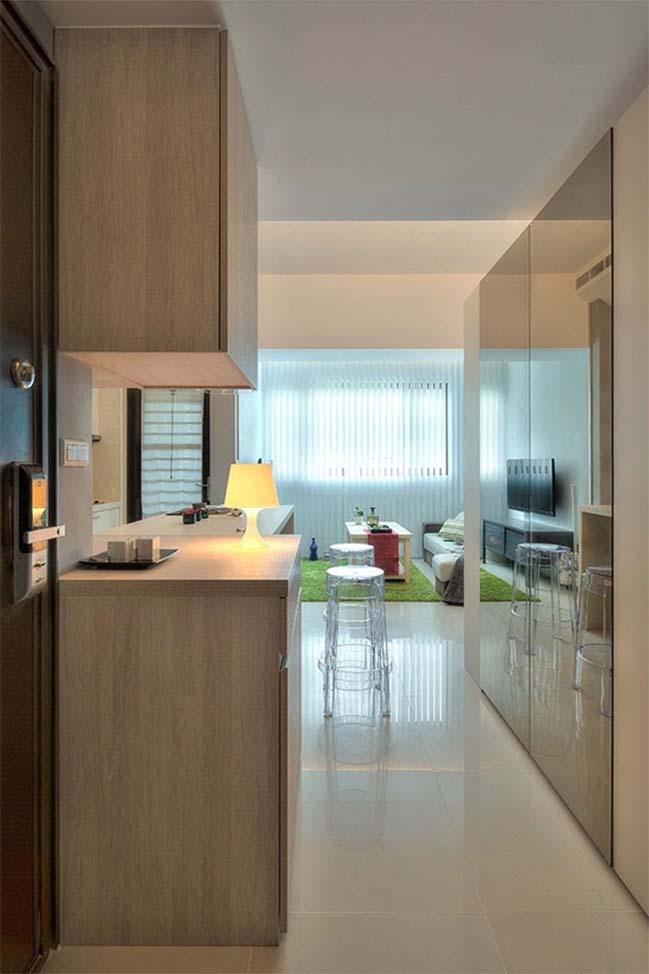 can ho nho dep 1 phong ngu 01 Gợi ý thiết kế hoàn hảo cho căn hộ nhỏ 1 phòng ngủ