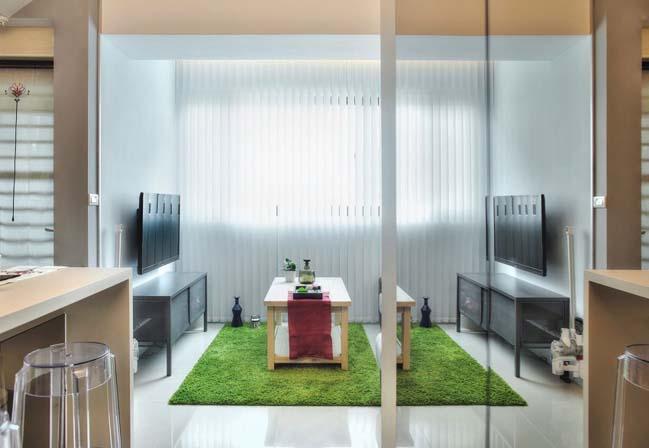 can ho nho dep 1 phong ngu 02 Gợi ý thiết kế hoàn hảo cho căn hộ nhỏ 1 phòng ngủ