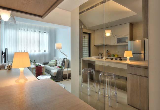 can ho nho dep 1 phong ngu 03 Gợi ý thiết kế hoàn hảo cho căn hộ nhỏ 1 phòng ngủ