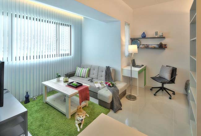 can ho nho dep 1 phong ngu 05 Gợi ý thiết kế hoàn hảo cho căn hộ nhỏ 1 phòng ngủ