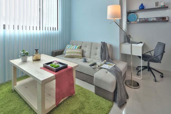 can ho nho dep 1 phong ngu 06 Gợi ý thiết kế hoàn hảo cho căn hộ nhỏ 1 phòng ngủ