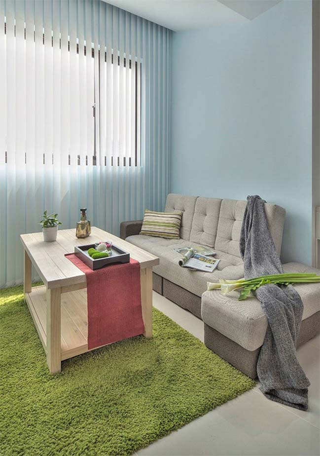 can ho nho dep 1 phong ngu 07 Gợi ý thiết kế hoàn hảo cho căn hộ nhỏ 1 phòng ngủ