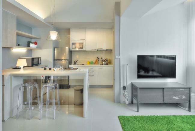 can ho nho dep 1 phong ngu 08 Gợi ý thiết kế hoàn hảo cho căn hộ nhỏ 1 phòng ngủ