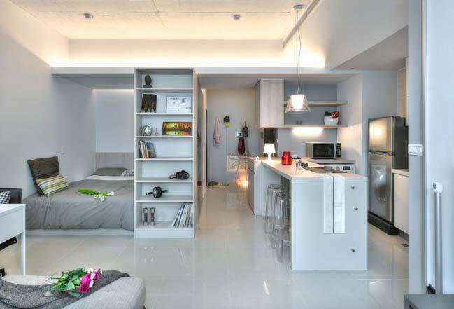 can ho nho dep 1 phong ngu 09 Gợi ý thiết kế hoàn hảo cho căn hộ nhỏ 1 phòng ngủ