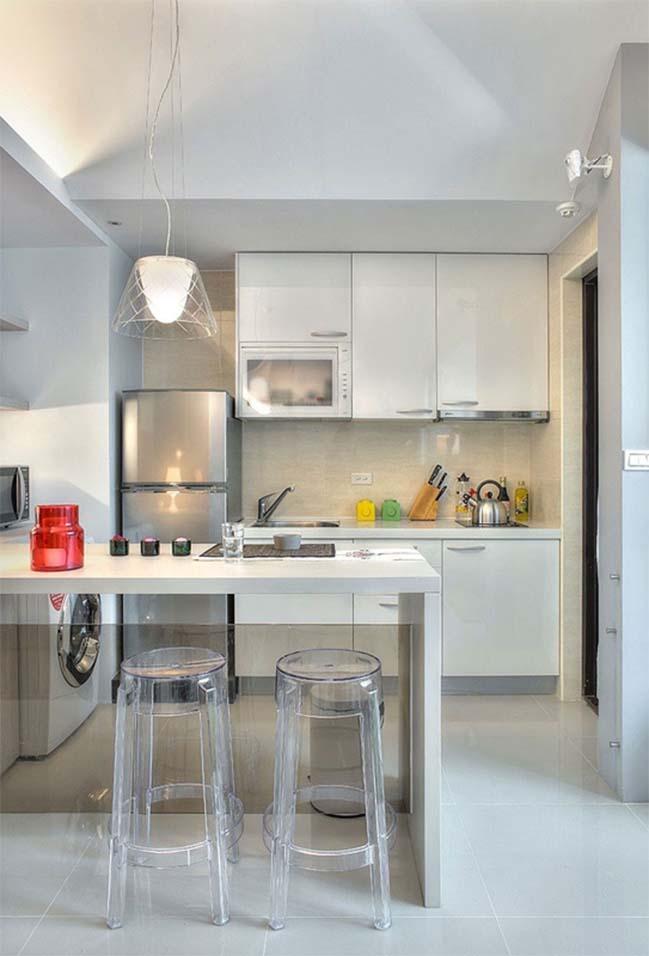 can ho nho dep 1 phong ngu 11 Gợi ý thiết kế hoàn hảo cho căn hộ nhỏ 1 phòng ngủ