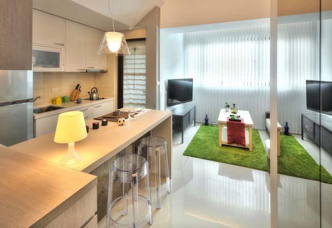 can ho nho dep 1 phong ngu 12 Gợi ý thiết kế hoàn hảo cho căn hộ nhỏ 1 phòng ngủ