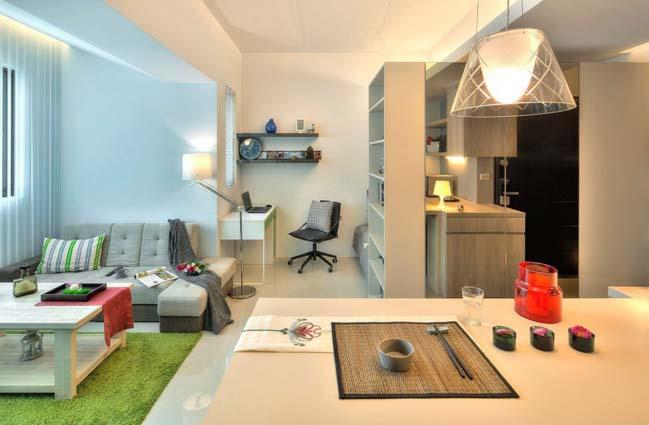 can ho nho dep 1 phong ngu 13 Gợi ý thiết kế hoàn hảo cho căn hộ nhỏ 1 phòng ngủ