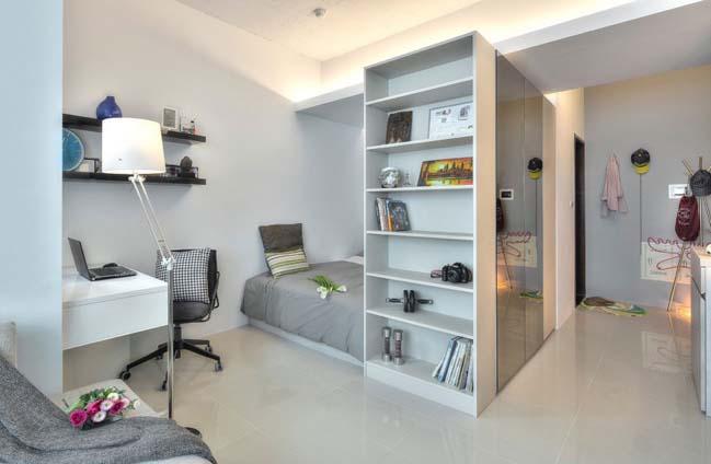 can ho nho dep 1 phong ngu 14 Gợi ý thiết kế hoàn hảo cho căn hộ nhỏ 1 phòng ngủ