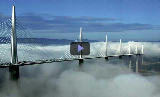 Video kiến trúc: Millau cây cầu cao nhất thế giới