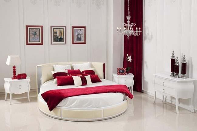 10 mẫu phòng ngủ đẹp với chiếc giường tròn