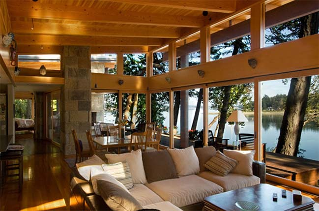 15 mẫu phòng khách đẹp nhìn ra cảnh quan bên ngoài