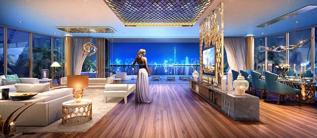 Biệt thự đẹp siêu sang trên đảo nhân tạo tại Dubai