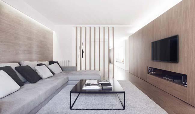 Căn hộ chung cư với nội thất tối giản sang trọng