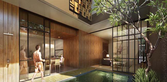 nha pho dep 3 tang voi noi that go hien dai 03 Thiết kế kiến trúc nhà phố đẹp 3 tầng với nội thất gỗ ấm áp