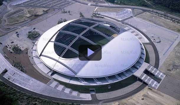 Kỳ quan kiến trúc: Mái vòm sân vận động Oita Nhật Bản