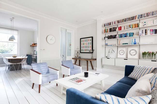 can ho chung cu voi phong cach thiet ke scandinavian 01 Tham quan căn hộ chung cư đẹp với màu trắng và xanh