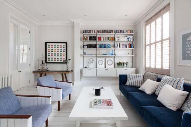 can ho chung cu voi phong cach thiet ke scandinavian 02 Tham quan căn hộ chung cư đẹp với màu trắng và xanh