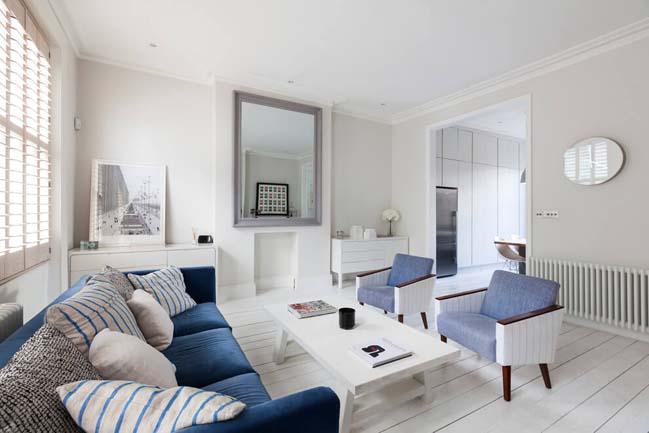 can ho chung cu voi phong cach thiet ke scandinavian 03 Tham quan căn hộ chung cư đẹp với màu trắng và xanh