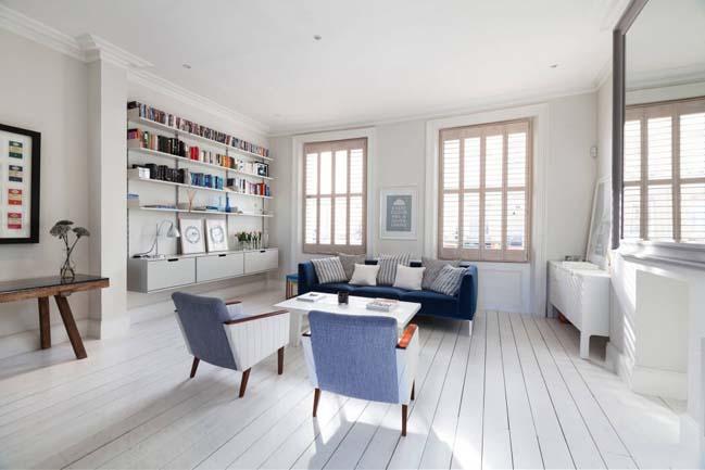 can ho chung cu voi phong cach thiet ke scandinavian 04 Tham quan căn hộ chung cư đẹp với màu trắng và xanh
