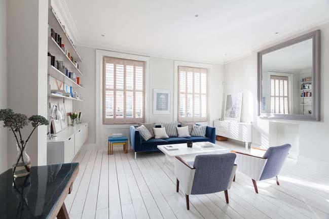 can ho chung cu voi phong cach thiet ke scandinavian 05 Tham quan căn hộ chung cư đẹp với màu trắng và xanh