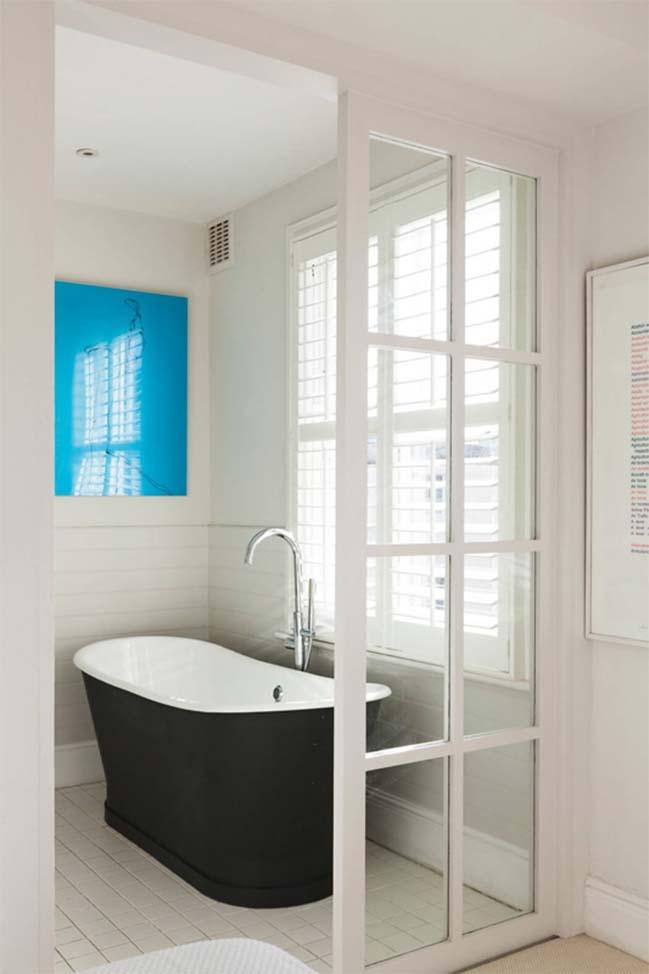 Căn hộ chung cư đẹp với màu trắng và xanh