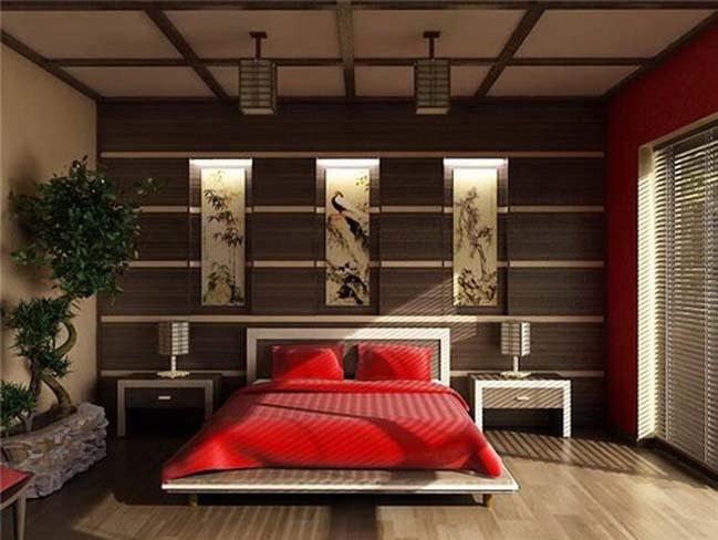 13 mẫu phòng ngủ đẹp với thiết kế Á Đông