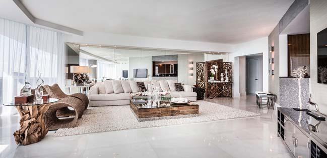 can ho penthouse voi thiet ke sang trong 01 Thiết kế kiến trúc và thiết kế nội thất sang trọng cho căn hộ penthouse