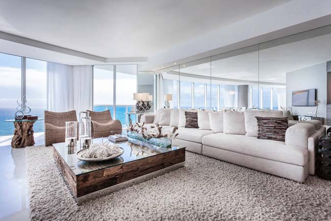 can ho penthouse voi thiet ke sang trong 02 Thiết kế kiến trúc và thiết kế nội thất sang trọng cho căn hộ penthouse