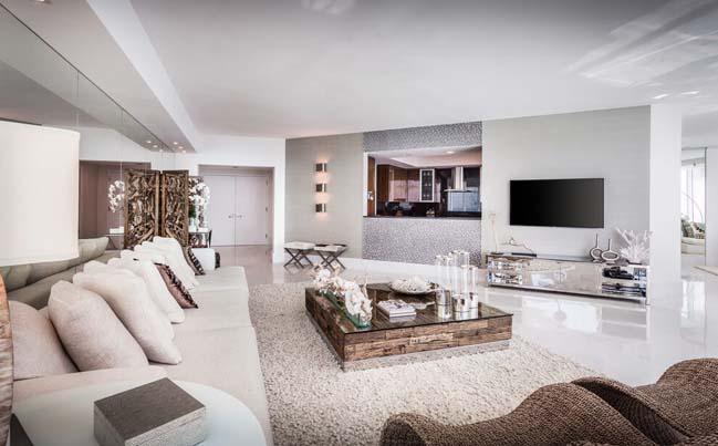 can ho penthouse voi thiet ke sang trong 03 Thiết kế kiến trúc và thiết kế nội thất sang trọng cho căn hộ penthouse