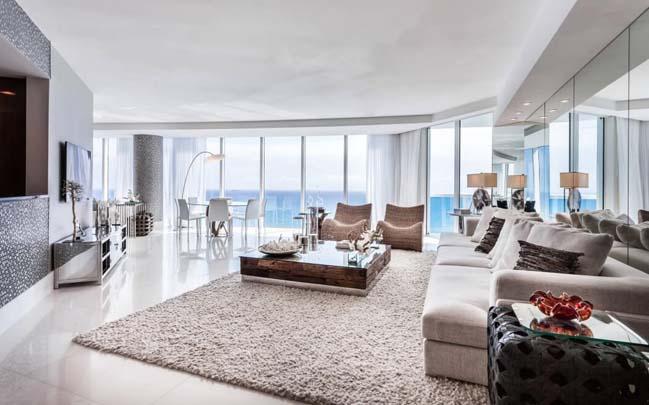 can ho penthouse voi thiet ke sang trong 04 Thiết kế kiến trúc và thiết kế nội thất sang trọng cho căn hộ penthouse