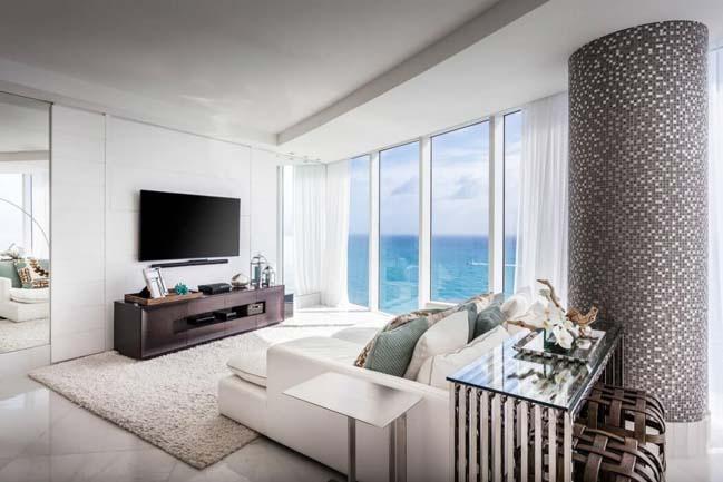 can ho penthouse voi thiet ke sang trong 06 Thiết kế kiến trúc và thiết kế nội thất sang trọng cho căn hộ penthouse
