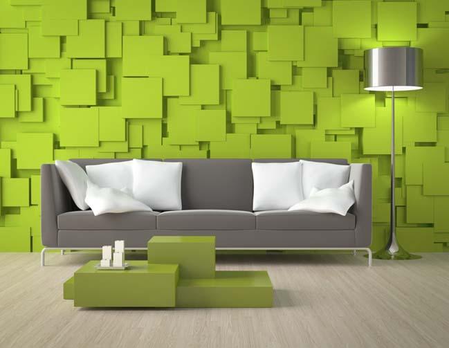 20 mẫu phòng khách đẹp với màu xám và xanh lá