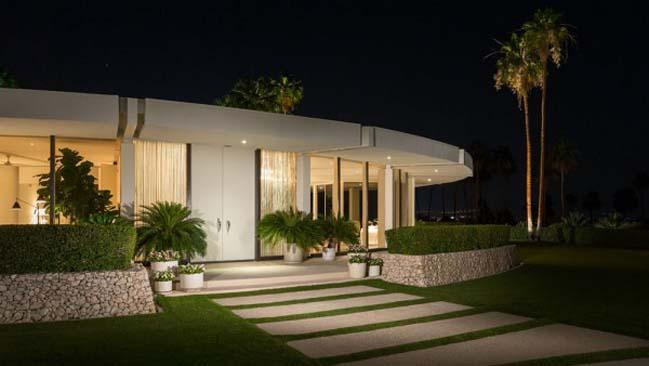 Biệt thự đẹp sang trọng với kiến trúc tròn độc đáo